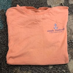 Peach colored Simply Southern t-shirt!!